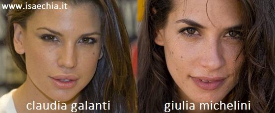 Somiglianza tra Claudia Galanti e Giulia Michelini