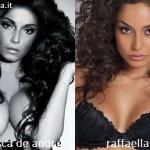 Somiglianza tra Francesca De André e Raffaella Fico