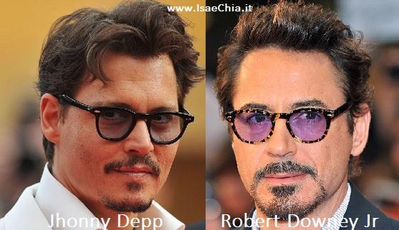 Somiglianza tra Jhonny Depp e Robert Downey Jr