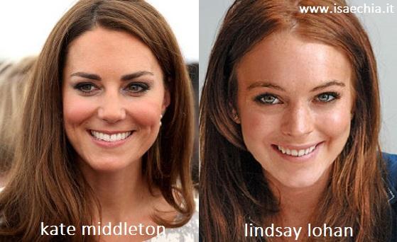 Somiglianza tra Kate Middleton e Lindsay Lohan