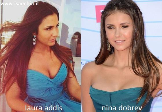 Somiglianza tra Laura Addis e Nina Dobrev
