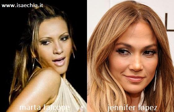 Somiglianza tra Marta Falcone e Jennifer Lopez