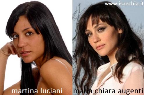Somiglianza tra Martina Luciani e Maria Chiara Augenti