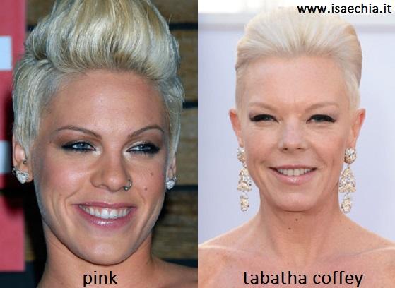 Somiglianza tra Pink e Tabatha Coffey