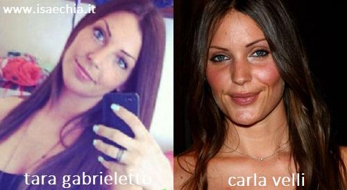 Somiglianza tra Tara Gabrieletto e Carla Velli