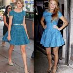 Taylor Swift e Blake Lively in Tibi dress