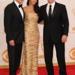 Emmy Awards 2013 - Michael Douglas, Matt Damon, Luciana Barroso