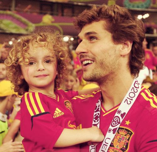 Fernando Llorente e figlia