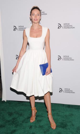 Novak Djokovic Foundation New York Dinner 2013 - Candice Swanepoel