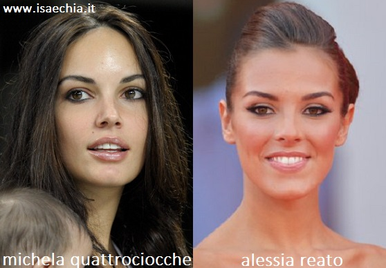 Somiglianza tra Alessia Reato e Michela Quattrociocche