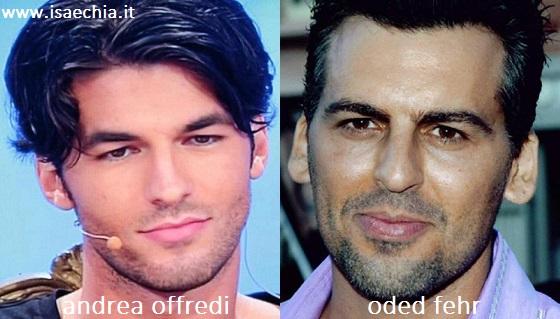 Somiglianza tra Andrea Offredi e Oded Fehr