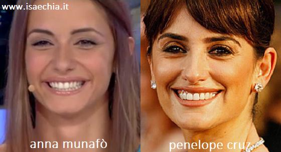 Somiglianza tra Anna Munafò e Penelope Cruz