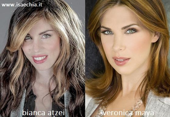 Somiglianza tra Bianca Atzei e Veronica Maya