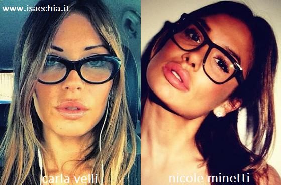 Somiglianza tra Carla Velli e Nicole Minetti