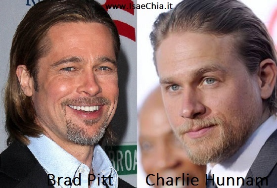 Somiglianza tra Charlie Hunnam e Brad Pitt