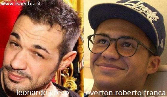 Somiglianza tra Leonardo Greco e Everton Roberto Franca
