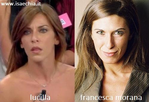 Somiglianza tra Lucilla e Francesca Morana
