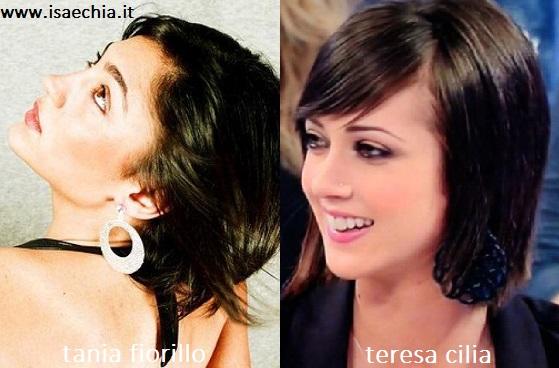 Somiglianza tra Tania Fiorillo e Teresa Cilia
