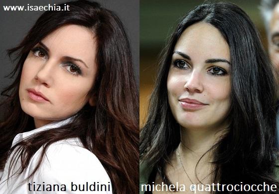 Somiglianza tra Tiziana Buldini e Michela Quattrociocche