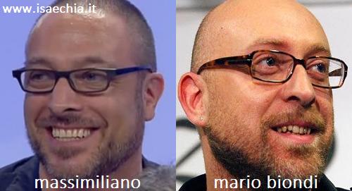 Somiglianza tra il cavaliere Massimiliano e Mario Biondi