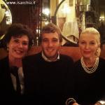 Paolo Ciavarro con Corinne Clery e la Marchesa Daniela Del Secco D'Aragona