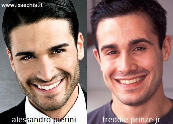 Somiglianza tra Alessandro Pierini e Freddie Prinze Jr