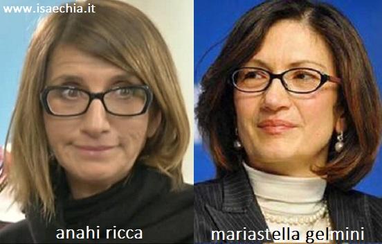 Somiglianza tra Anahi Ricca e Mariastella Gelmini