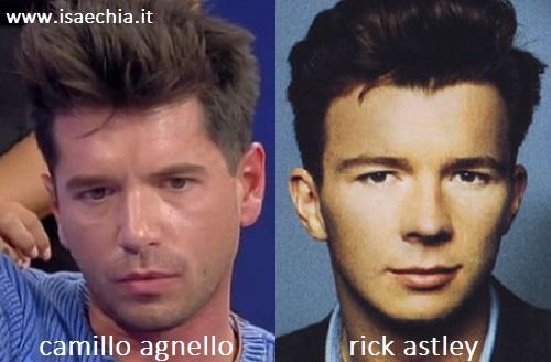 Somiglianza tra Camillo Agnello e Rick Astley