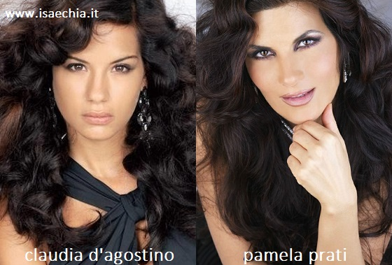 Somiglianza tra Claudia D'Agostino e Pamela Prati