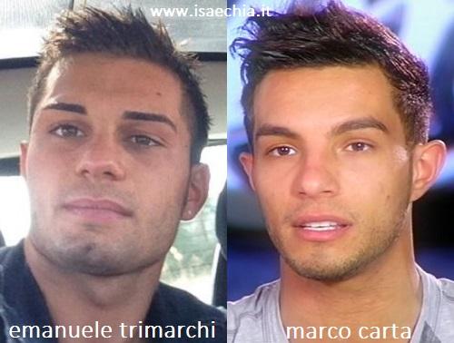 Somiglianza tra Emanuele Trimarchi e Marco Carta