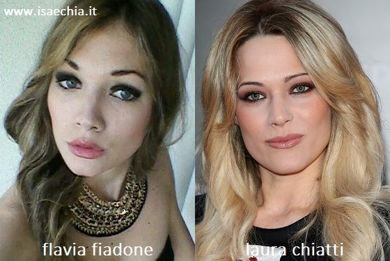 Somiglianza tra Flavia Fiadone e Laura Chiatti