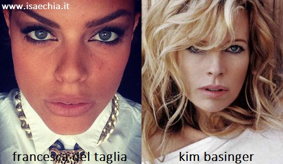 Somiglianza tra Francesca Del Taglia e Kim Basinger
