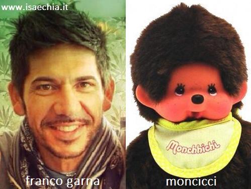 Somiglianza tra Franco Garna e Moncicci