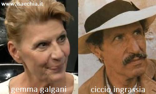 Somiglianza tra Gemma Galgani e Ciccio Ingrassia