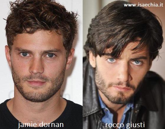 Somiglianza tra Jamie Dornan e Rocco Giusti