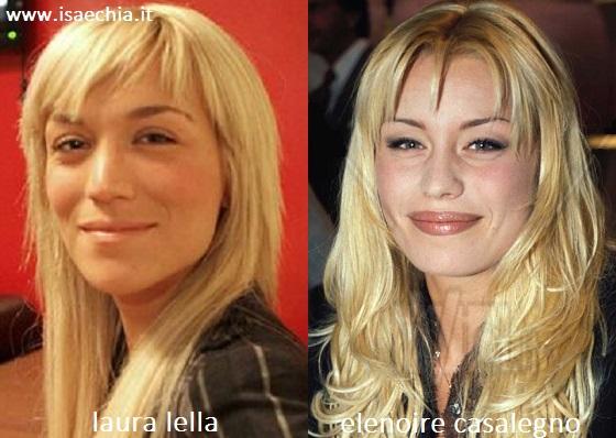 Somiglianza tra Laura Lella ed Elenoire Casalegno