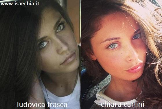 Somiglianza tra Ludovica Frasca e Chiara Carlini