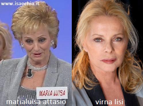 Somiglianza tra Marialuisa Attasio e Virna Lisi