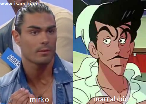 Somiglianza tra Mirko e Marrabbio