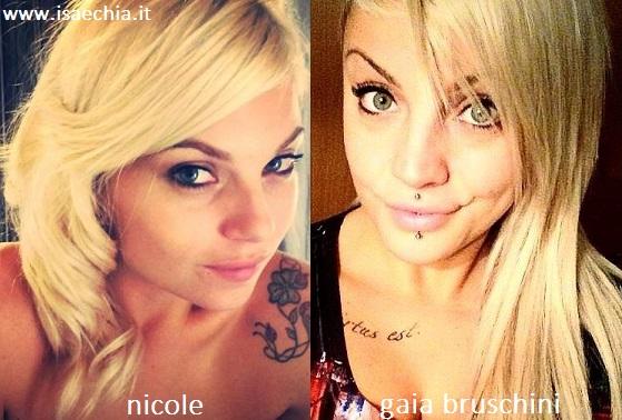 Somiglianza tra Nicole e Gaia Bruschini