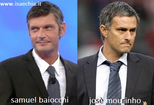 Somiglianza tra Samuel Baiocchi e Josè Mourinho