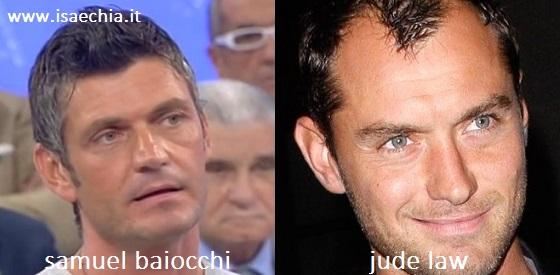 Somiglianza tra Samuel Baiocchi e Jude Law