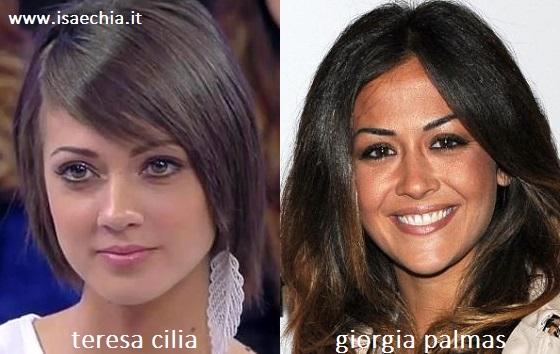 Somiglianza tra Teresa Cilia e Giorgia Palmas