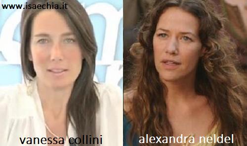 Somiglianza tra Vanessa Collini e Alexandra Neldel