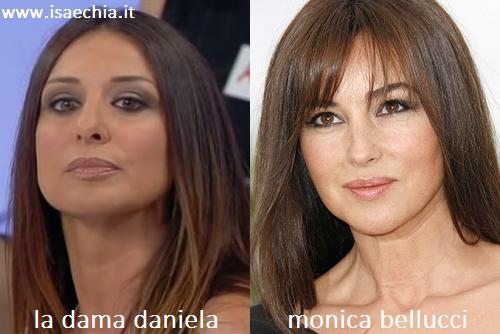 Somiglianza tra la dama Daniela e Monica Bellucci