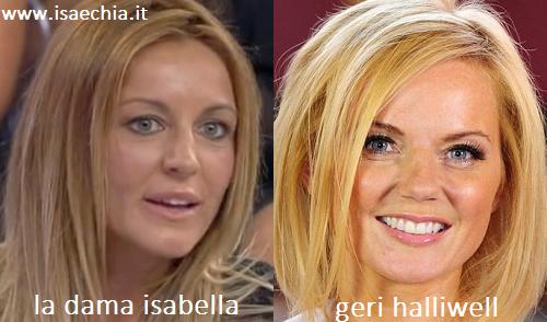 Somiglianza tra la dama Isabella e Geri Halliwell