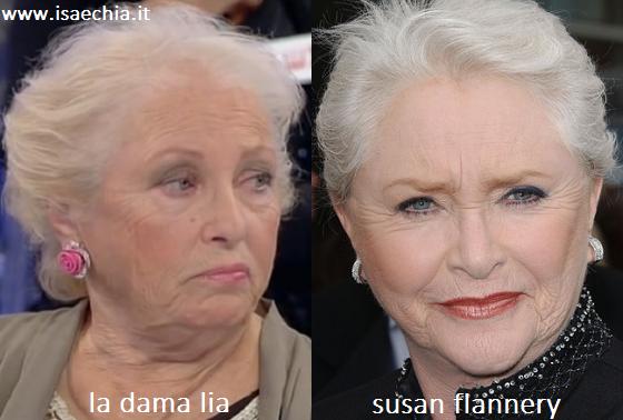Somiglianza tra la dama Lia e Susan Flannery