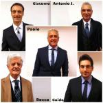 Giacomo, Rocco, Guido Soldati, Antonio Jorio e Paolo