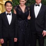 Governors Awards 2013 - Angelina Jolie,Brad Pitt e il figlio Maddox