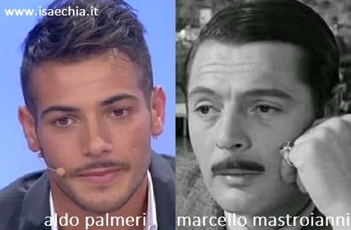 Somiglianza tra Aldo Palmeri e Marcello Mastroianni
